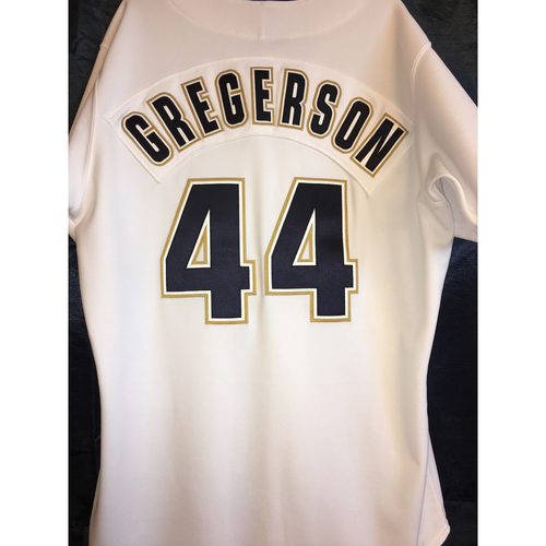 Photo of Game-Used Luke Gregerson 1997 Turn-Back-The-Clock Uniform - Jersey Size 48