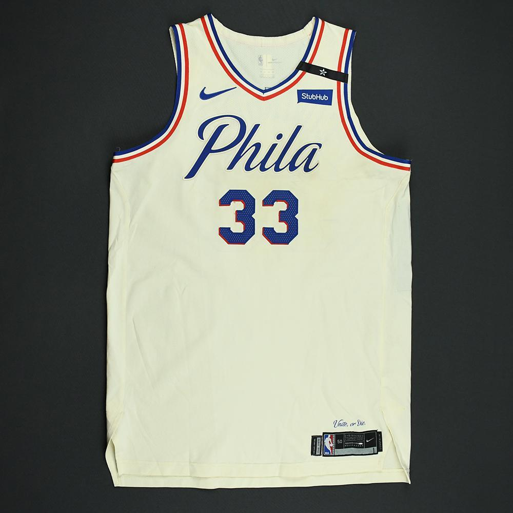 Robert Covington - Philadelphia 76ers - 2018 NBA Playoffs Game-Worn City Jersey