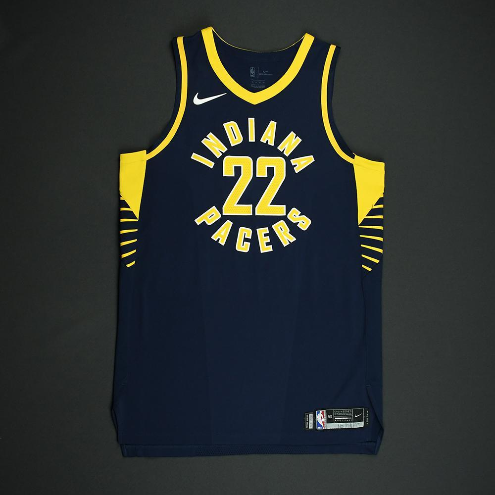 T.J. Leaf - Indiana Pacers - Game-Worn Rookie Debut Jersey (Opening Night) - 2017-18 Season