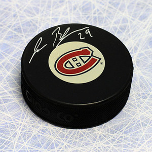 Jesse Belanger Montreal Canadiens Autographed Hockey Puck