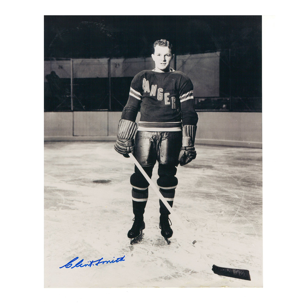 CLINT SMITH Signed New York Rangers Vintage 8 X 10 Photo - 70160