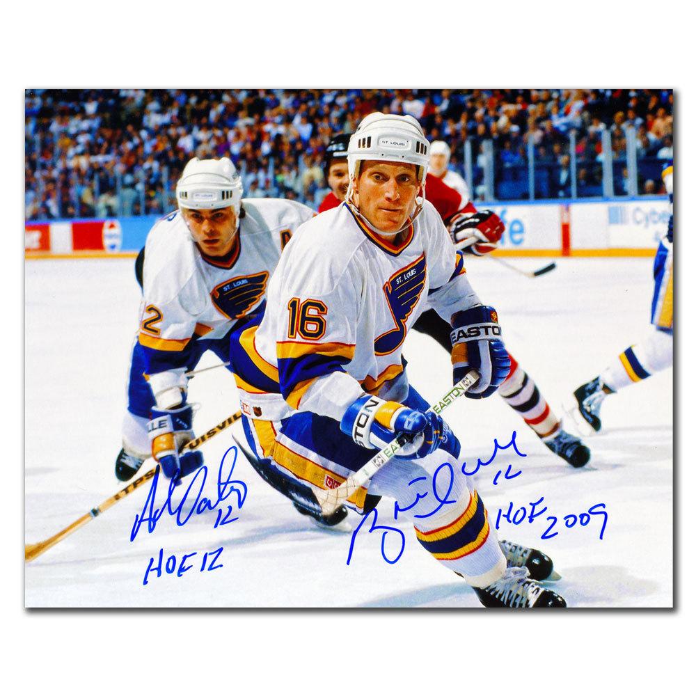 Brett Hull & Adam Oates St. Louis Blues HOF Dual Autographed 8x10