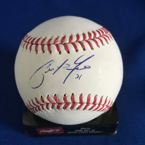 Photo of UMPS CARE AUCTION: Christian Yelich Signed Baseball