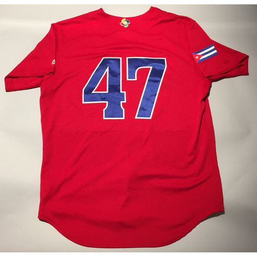 2017 WBC: Cuba Game-Used Batting Practice Jersey, #47