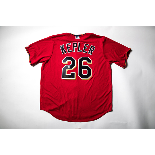 Photo of Home Red Autographed Replica Jersey - Max Kepler Size XL