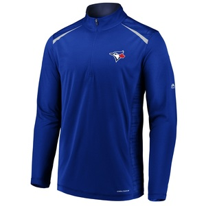 Toronto Blue Jays Perfect Movements 1/2 Zipper Pullover Fleece by Majestic
