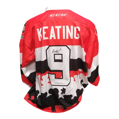 #9 Austen Keating Game Worn Teddy Toss Theme Jersey
