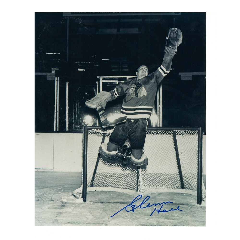 GLENN HALL Signed Chicago Blackhawks 8 X 10 Photo - 70144