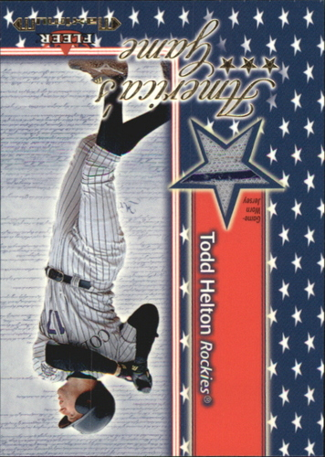 Photo of 2002 Fleer Maximum Americas Game Jersey #9 Todd Helton