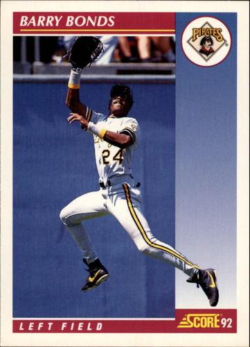 Photo of 1992 Score #555 Barry Bonds