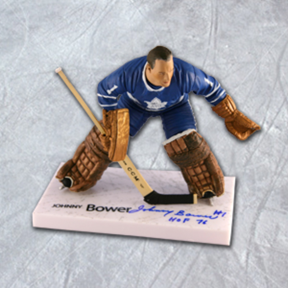 Johnny Bower Toronto Maple Leafs Autographed McFarlane Sports Picks Figure