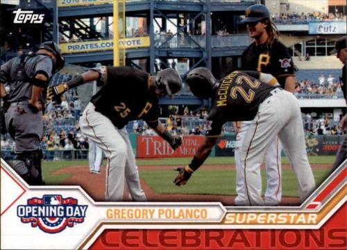 Photo of 2017 Topps Opening Day Superstar Celebrations #SC19 Gregory Polanco