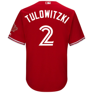 Toronto Blue Jays Youth Troy Tulowitzki CB Alt Red Screen Print Jersey by Majestic