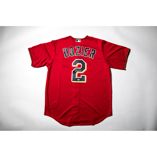 Photo of Home Red Autographed Replica Jersey - Brian Dozier Size XL