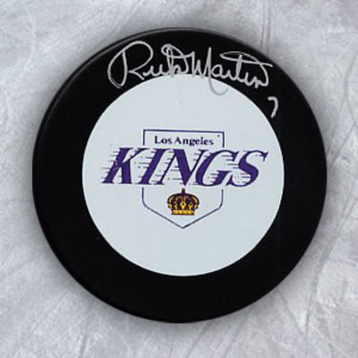 RICK MARTIN Los Angeles Kings Autographed Hockey Puck