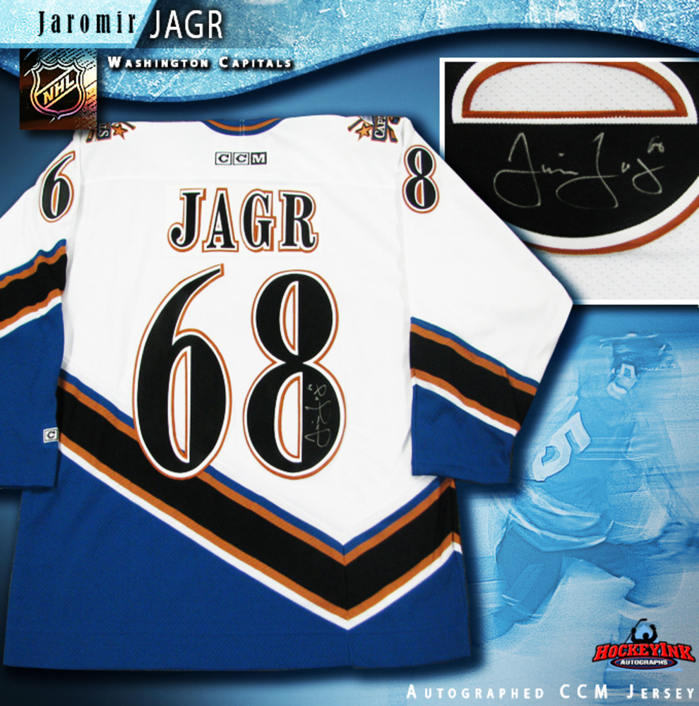 JAROMIR JAGR Signed CCM White Washington Capitals Jersey
