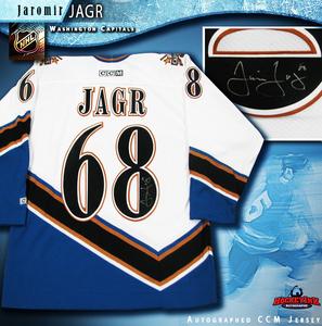 JAROMIR JAGR Signed CCM White Washington Capitals Jersey