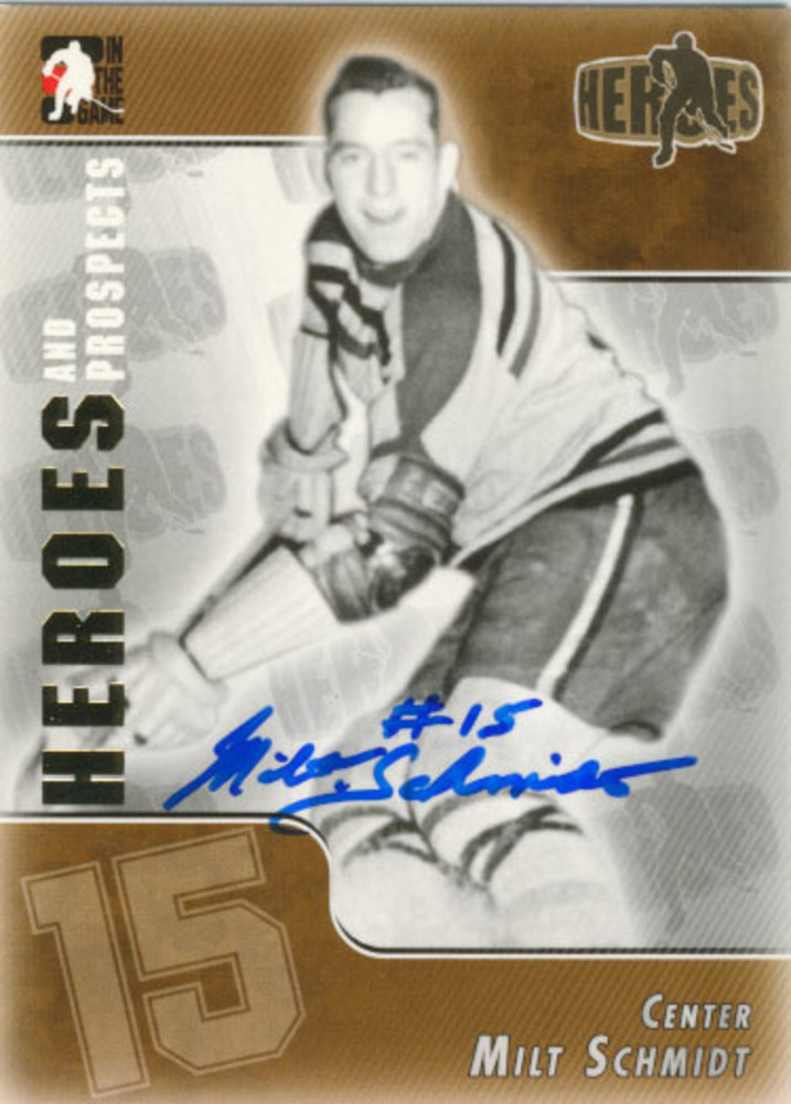 MILT SCHMIDT Boston Bruins AUTOGRAPHED hockey card