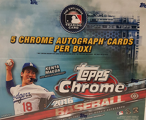 Photo of 2016 Topps Chrome Jumbo Baseball Hobby Box