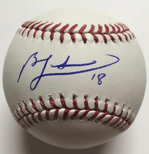 Ben Zobrist Autographed Baseball