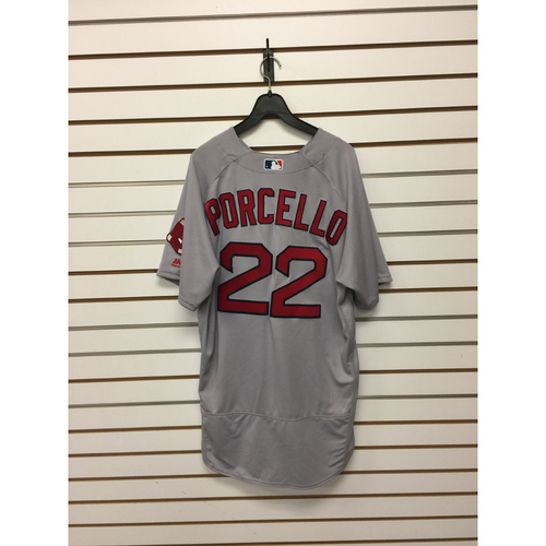 Rick Porcello Game-Used April 9, 2017 Road Jersey