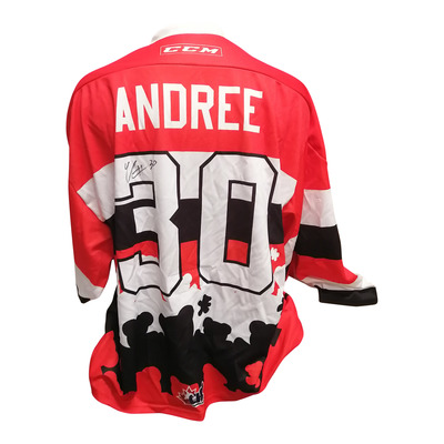 #30 Cedrick Andree Game Worn Teddy Toss Theme Jersey