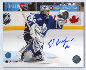 Ed Belfour Toronto Maple Leafs Autographed Glove Save 8x10 Photo