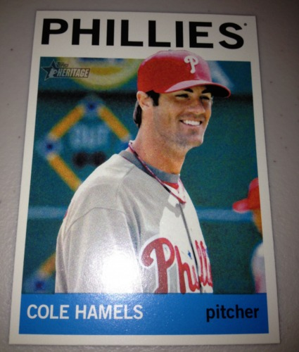 Photo of 2013 Topps Heritage #448A Cole Hamels SP
