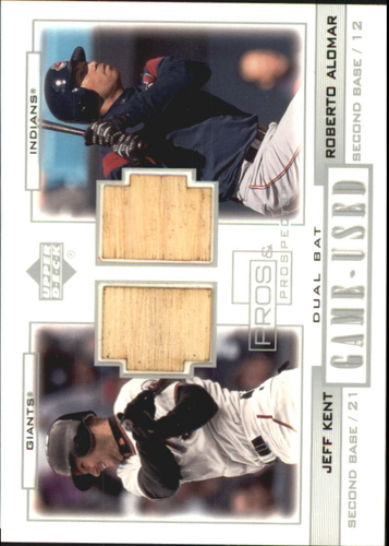 Photo of 2001 Upper Deck Pros and Prospects Game-Used Dual Bat #PPKA Jeff Kent/Roberto Alomar