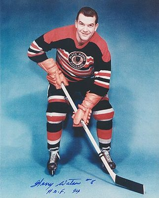HARRY WATSON Chicago Blackhawks SIGNED 8x10 Photo