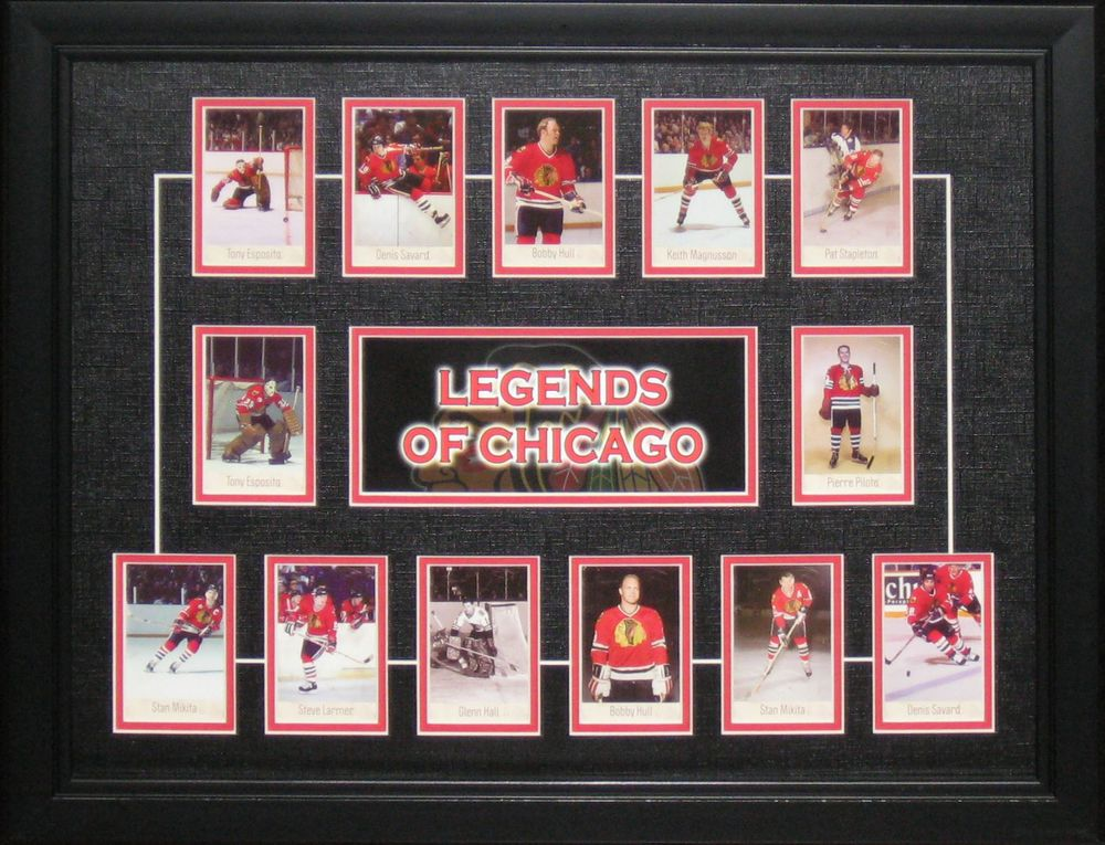 Chicago Blackhawks - Framed HHOF Cards
