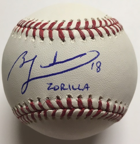 "Photo of Ben Zobrist ""Zorilla"" Autographed Baseball"
