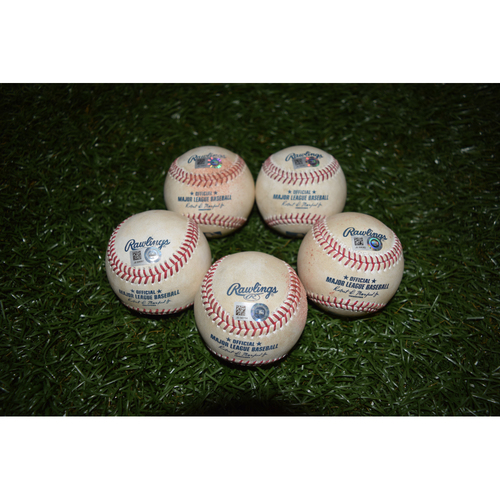 Photo of Game-Used Baseballs: 2016 Starters Package