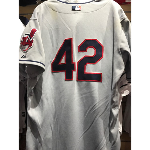 Photo of Nick Swisher Game-Used 2014 Jackie Robinson Day Jersey