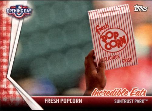 Photo of 2017 Topps Opening Day Incredible Eats #IE3 Fresh Popcorn