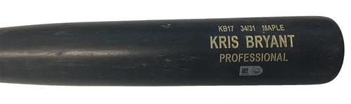 Photo of Kris Bryant Game-Used Cracked Bat -- Daniel Hudson to Kris Bryant, Single -- Cubs at Pirates -- 4/26/17