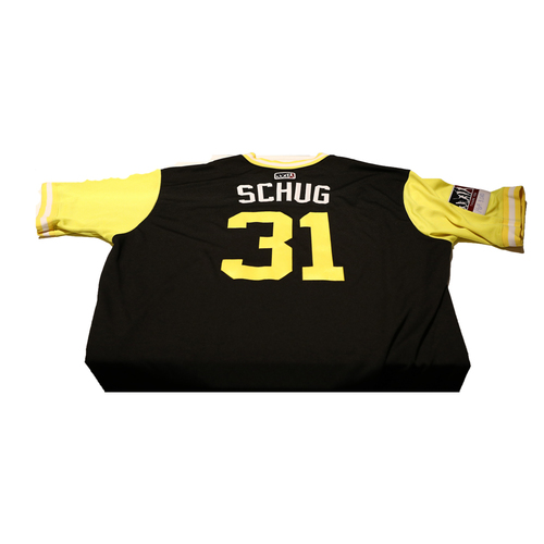 "Photo of AJ ""Schug"" Schugel Pittsburgh Pirates Game-Used Players Weekend Jersey"