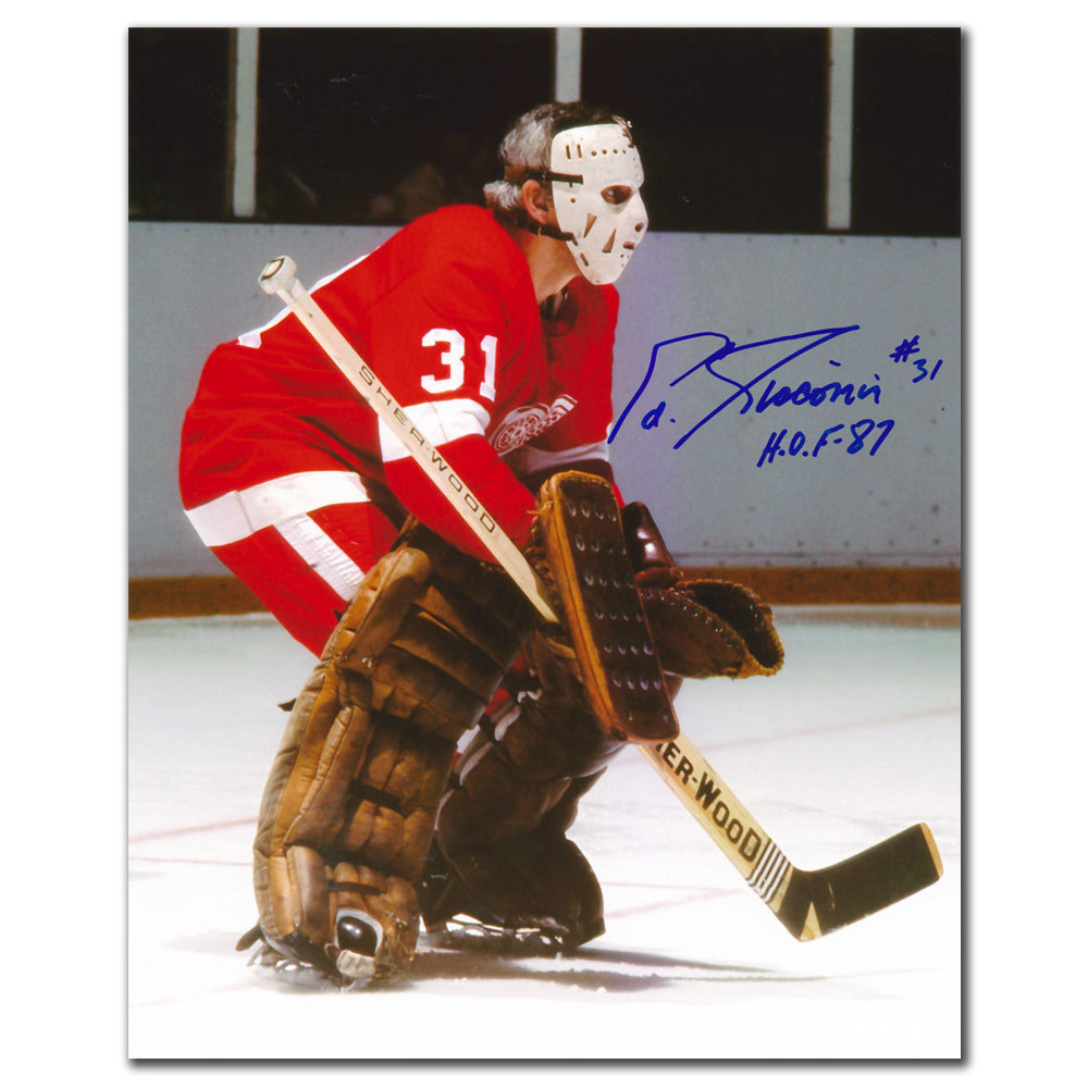Ed Giacomin Detroit Red Wings HOF Autographed 8x10