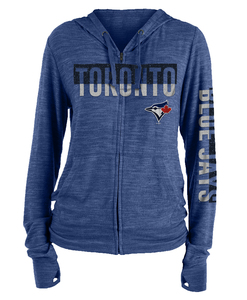 Toronto Blue Jays Women's Space Dye Brushed Sweater Knit Hoody by New Era