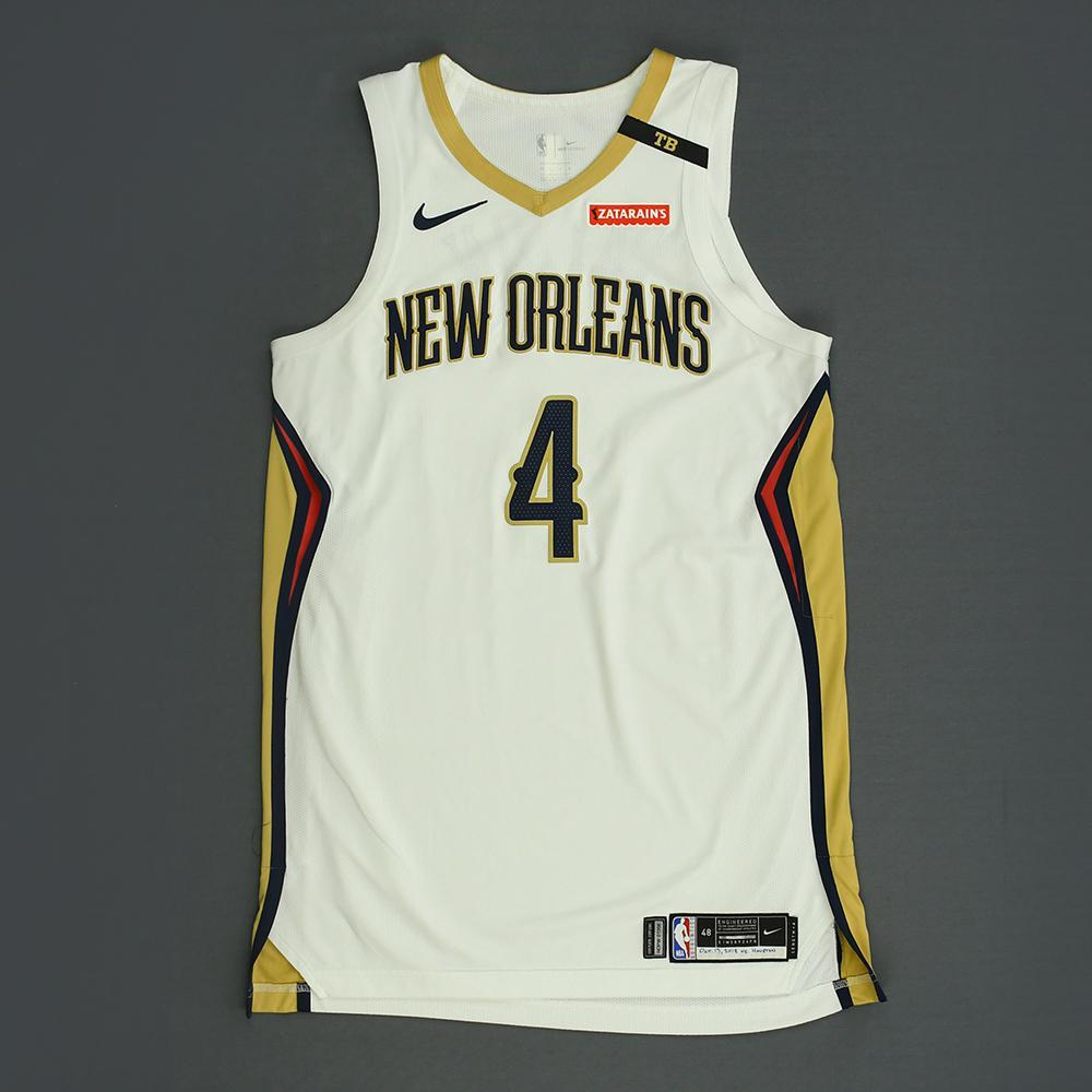 Elfrid Payton - New Orleans Pelicans - Kia NBA Tip-Off 2018 - Game-Worn Association Edition Jersey - Triple-Double