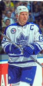 Mats Sundin - 14x28 Hockey Hall Of Fame Canvas - Toronto Maple Leafs