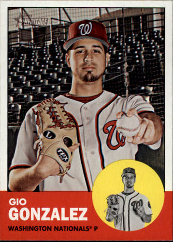 Photo of 2012 Topps Heritage #301 Gio Gonzalez