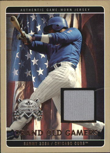 Photo of 2005 National Pastime Grand Old Gamers Jersey #SS Sammy Sosa