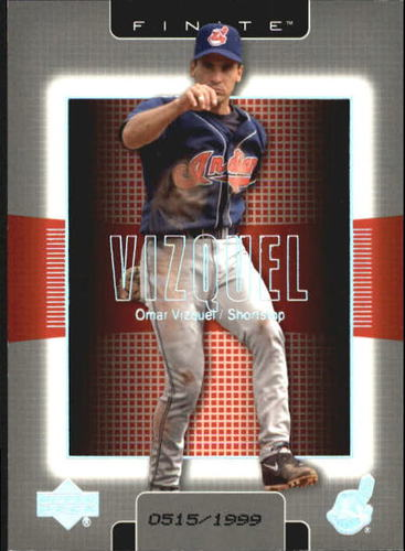 Photo of 2003 Upper Deck Finite #33 Omar Vizquel