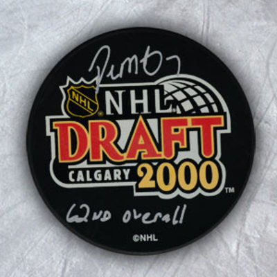 PAUL MARTIN 2000 NHL Draft Day SIGNED Puck w/ 62 Pick