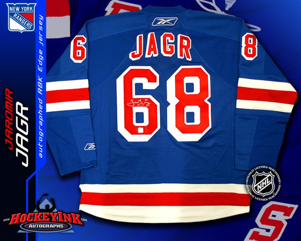 JAROMIR JAGR Signed RBK Premier Blue New York Rangers Jersey