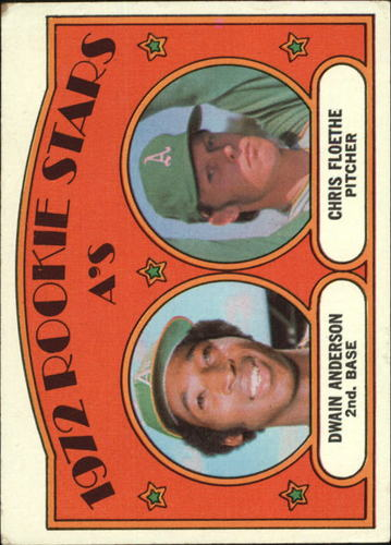 Photo of 1972 Topps #268 Rookie Stars/Dwain Anderson RC/Chris Floethe RC