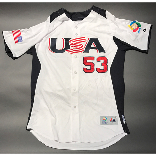 Photo of 2013 World Baseball Classic Jersey - USA Jersey, Marcel Lachemann #53
