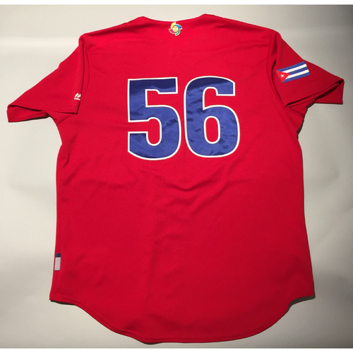 Photo of 2017 WBC: Cuba Game-Used Batting Practice Jersey, #56