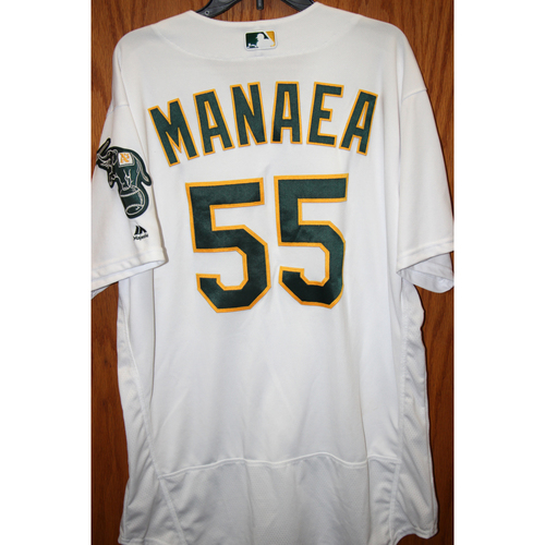 """Photo of Sean Manaea Game-Used """"Atleticos"""" Jersey"""